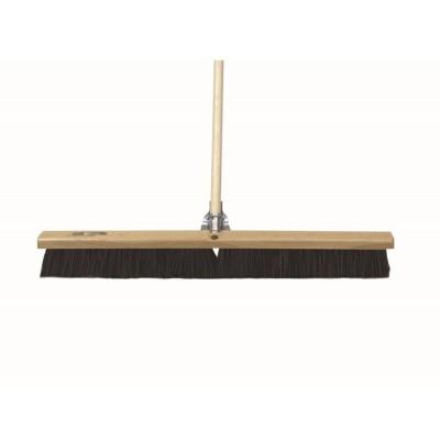 Wood Concrete Floor Broom with Handle