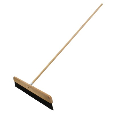 Wood Concrete Finishing Broom with Handle
